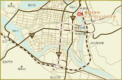 萩市内地図